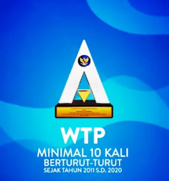Ilsutrasi penghargaan WTP 10 kali berturut-turut dari Kementerian Keuangan. (Net/rmolsumsel.id)
